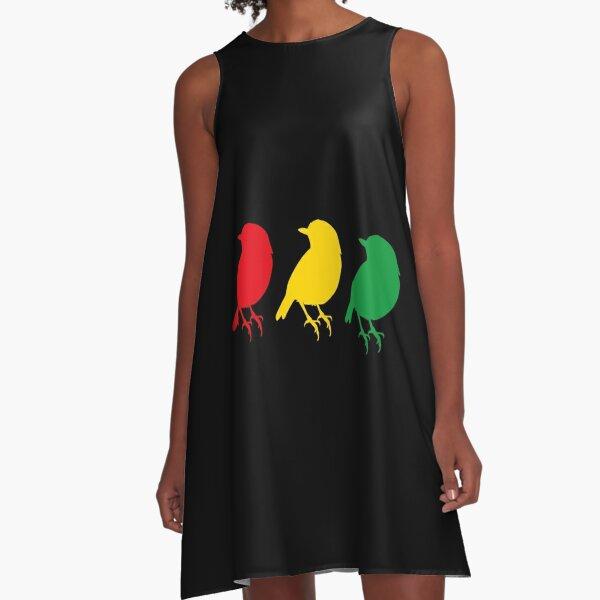 3 little Birds - Three Birds Rasta Colors Bob Song A-Line Dress