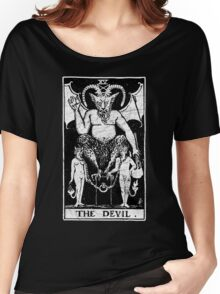 The Devil Tarot Card - Major Arcana - fortune telling - occult Women's Relaxed Fit T-Shirt