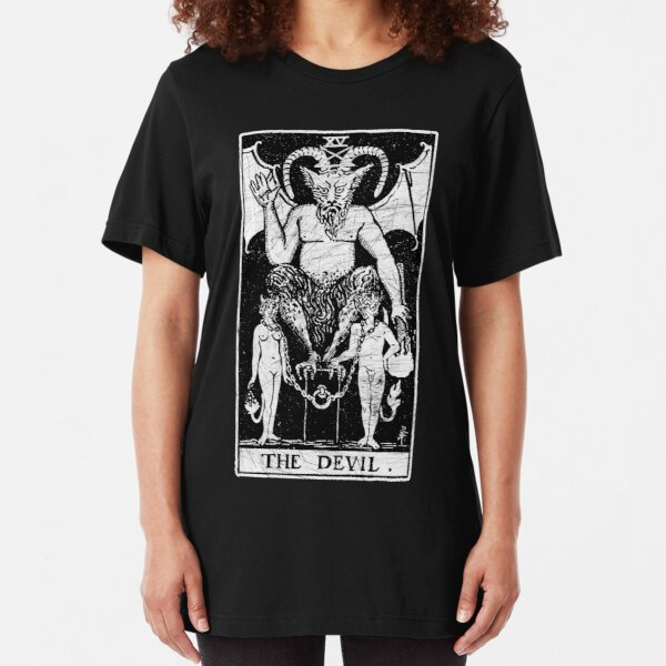 The Devil Tarot Card - Major Arcana - fortune telling - occult Slim Fit T-Shirt