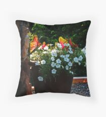 Pot of Petunias Throw Pillow