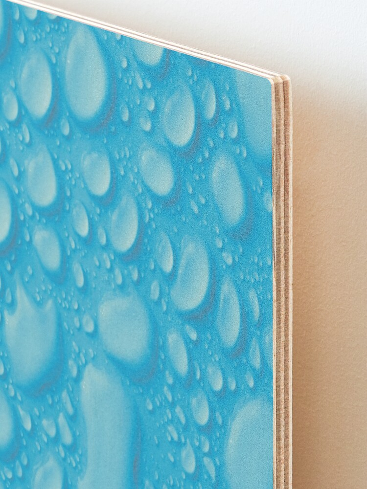 Alternate view of Blue waterdrops Mounted Print