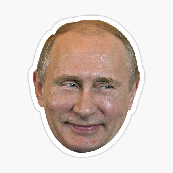 Vladimir Poutine Visage. Sticker