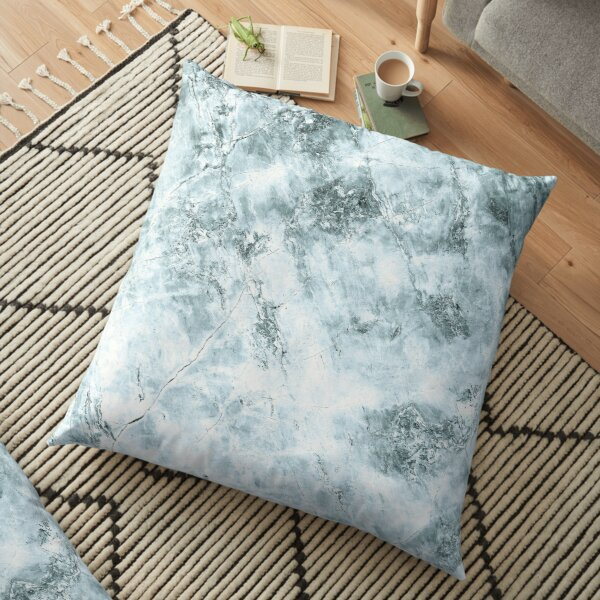 Blue marble structure Floor Pillow