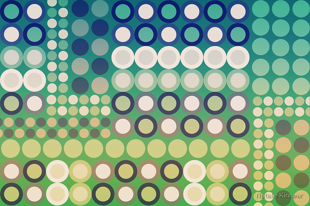 Circles Abstract Two by Natalie Kinnear
