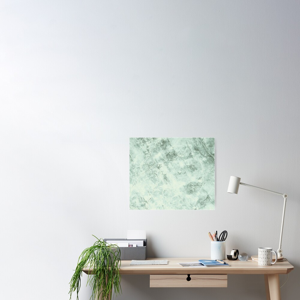 Green marble structure Poster