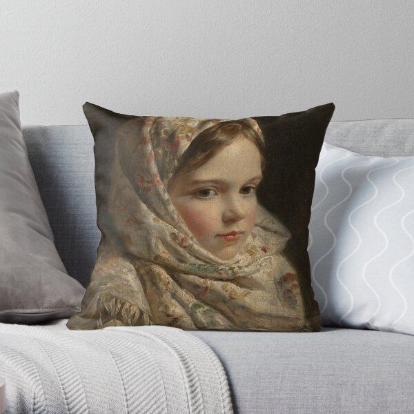 Russian Painter Oil Portrait Throw Pillow