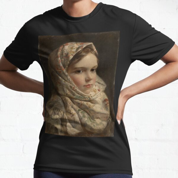 Russian Painter Oil Portrait Active T-Shirt