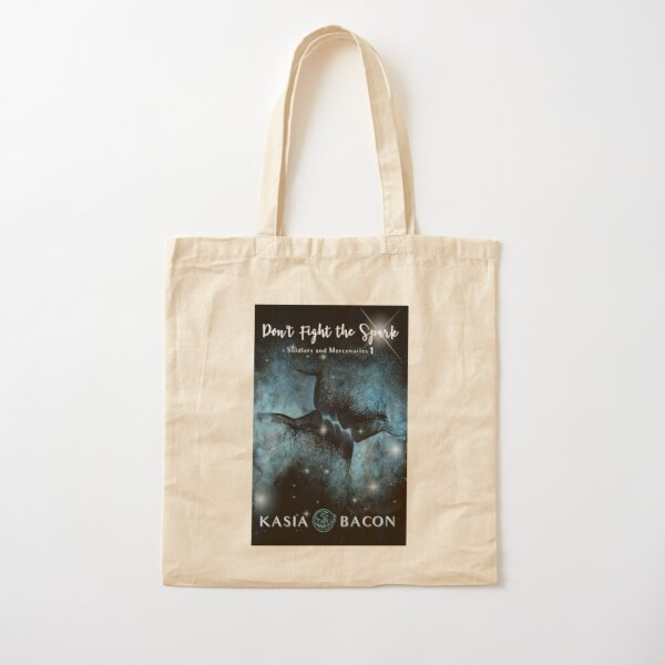 Don't Fight the Spark Book Cover Cotton Tote Bag