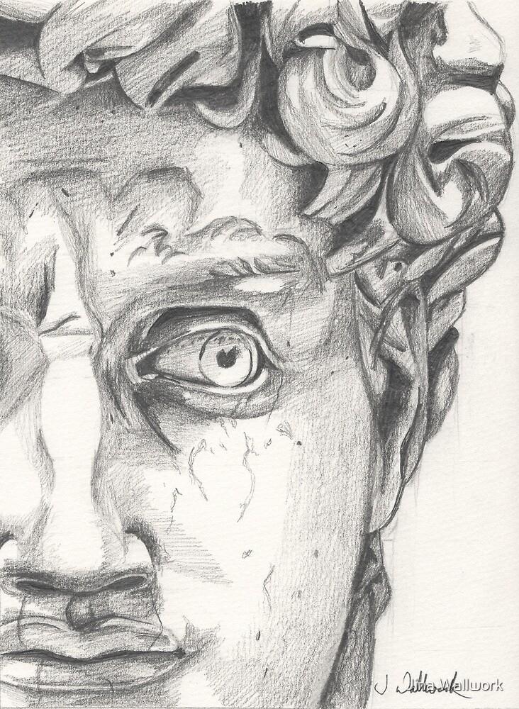 Michelangelo's David by Jina Wallwork