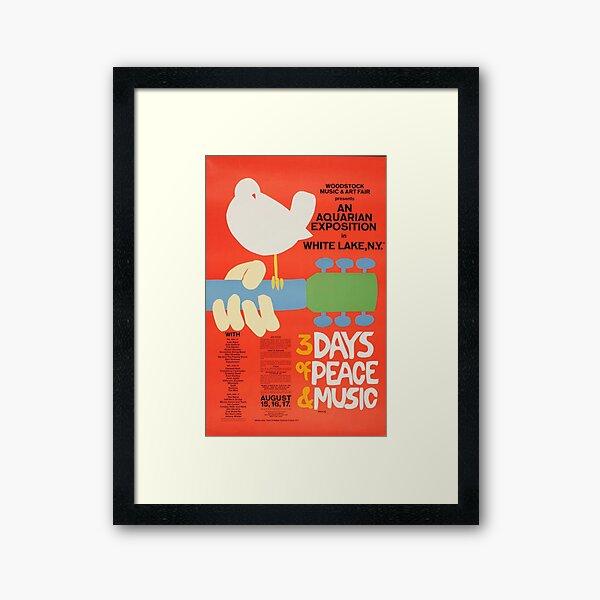 Woodstock 1969 Vintage Music Festival Art Framed Art Print