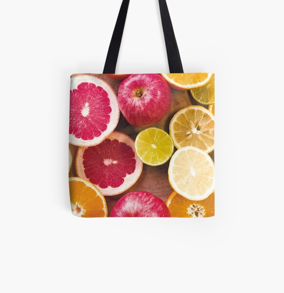 Colorful citrus All Over Print Tote Bag
