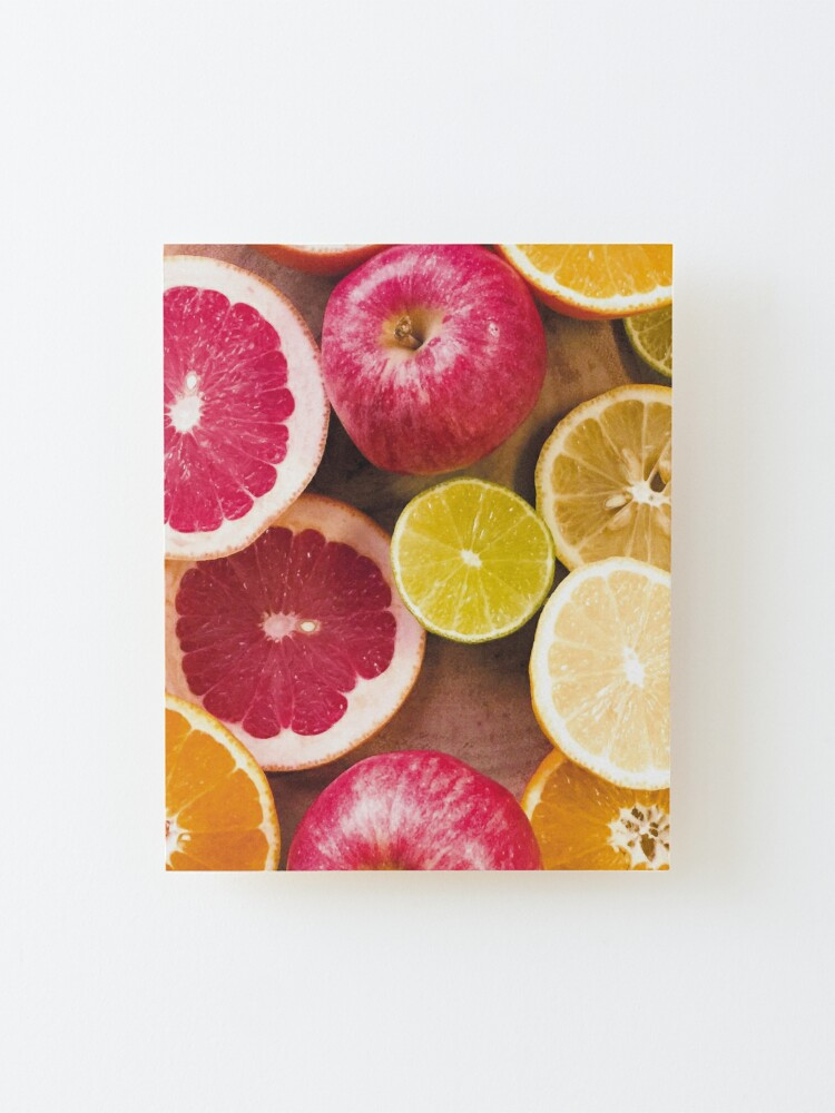 Alternate view of Colorful citrus Mounted Print