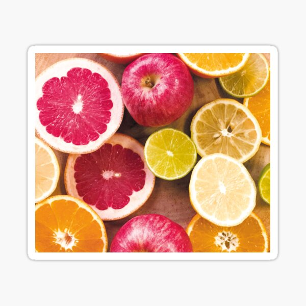 Colorful citrus Sticker