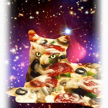 Pizza Cat in Space Shirt by LukeSimms