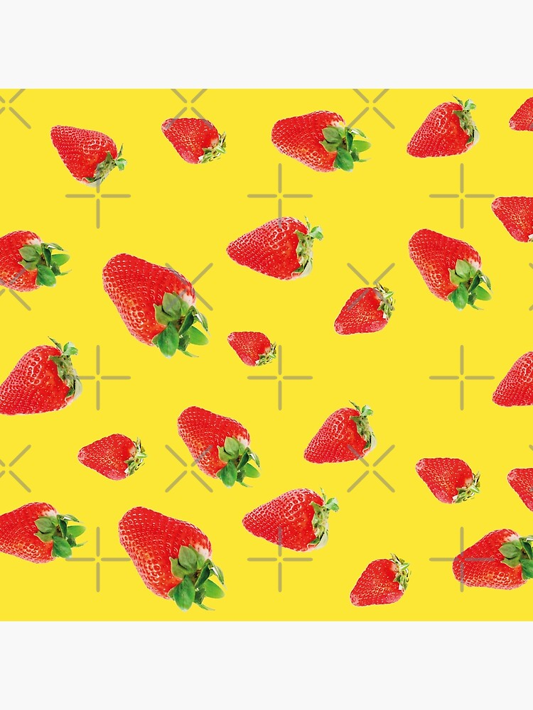Pattern strawberry party yellow by ColorsHappiness