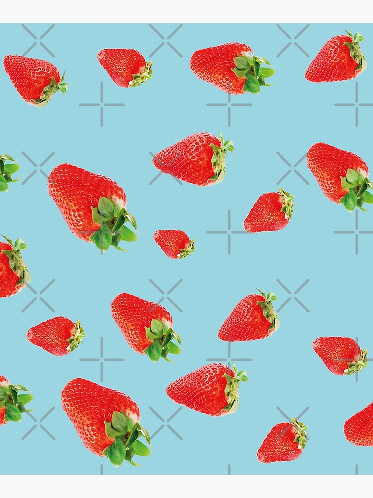 Pattern strawberry party blue by ColorsHappiness