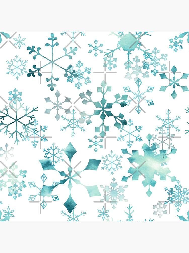Snowflake Crystals on White by adenaJ