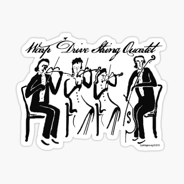 Warp Drive String Quartet Sticker