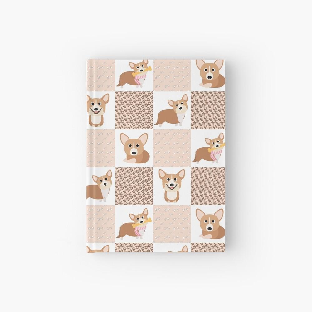 Corgi Patchwork Pattern Hardcover Journal