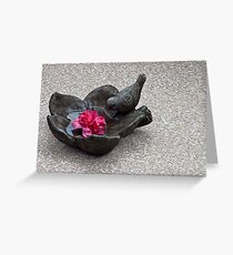 Birdie Bath Greeting Card