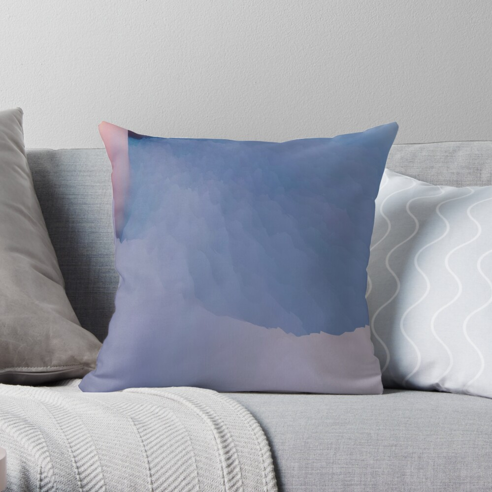 Abstract acrylics patterns Crystal madness design collection no. 038 Throw Pillow