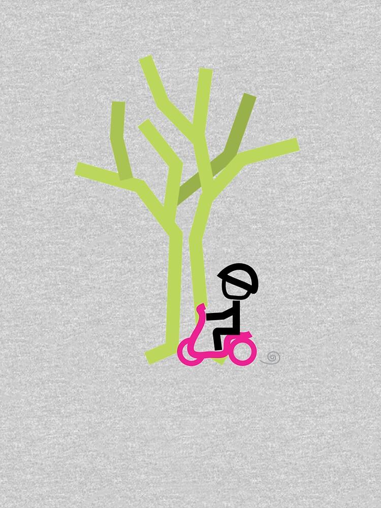 Scooter Boy series - scootin' through autumn t-shirt by gosugimoto