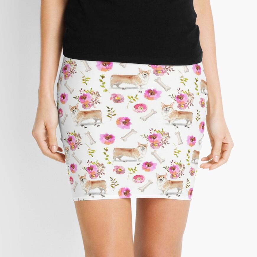 Summer Corgis Mini Skirt