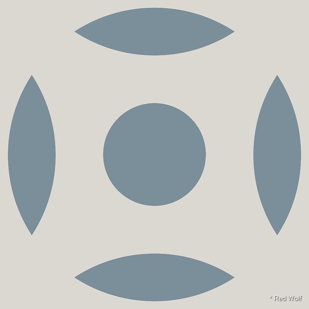 Geometric Pattern: Intersect Circle: Bluestone by * Red Wolf