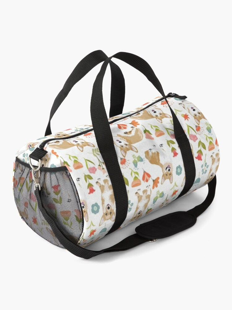 Alternate view of Summer Corgi And Flower Meadow Duffle Bag