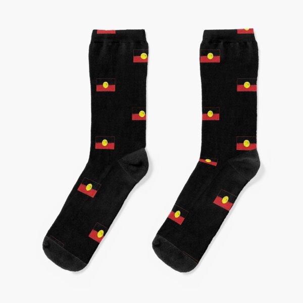 Distressed Aboriginal Flag  Socks