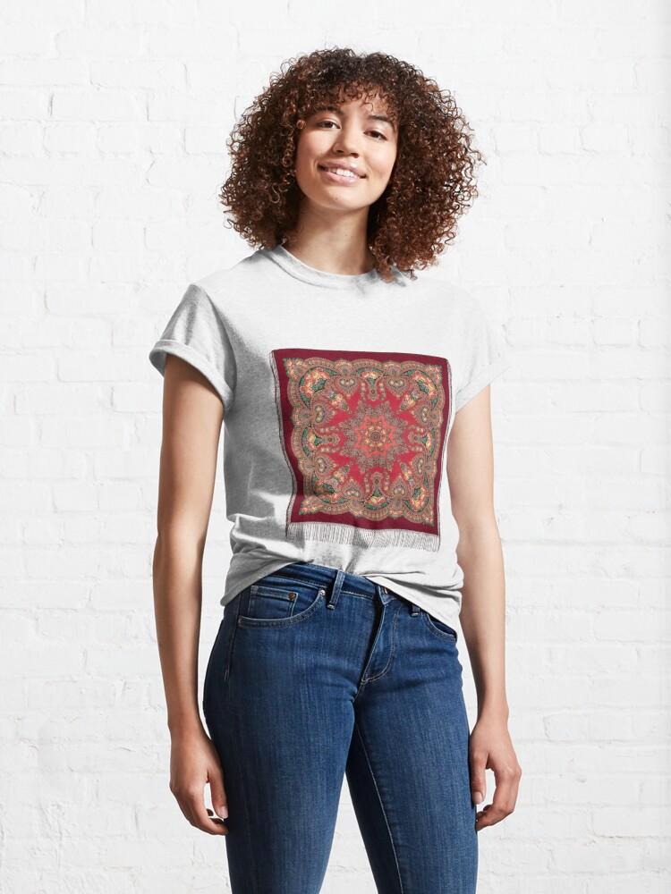 Alternate view of Women's PAVLOVO POSAD SHAWL Classic T-Shirt