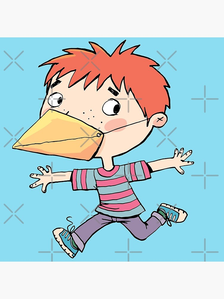 boy with a mask on his face that is a bird's beak by duxpavlic