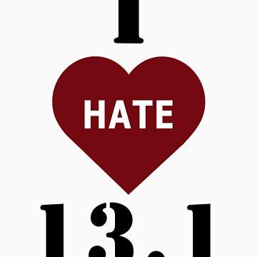 I heart 13.1 half marathon t-shirt by Inspyre