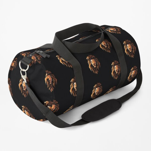 Hipster Lion Head Illustration Duffle Bag