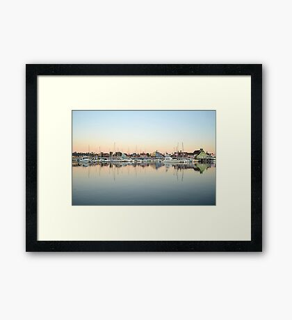 Marina Village Framed Print