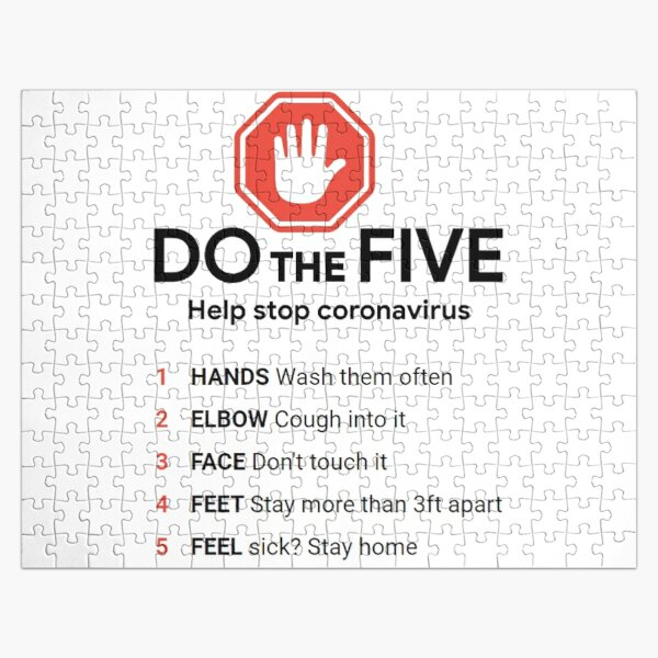 DO the Five. Help Stop #Coronavirus Jigsaw Puzzle