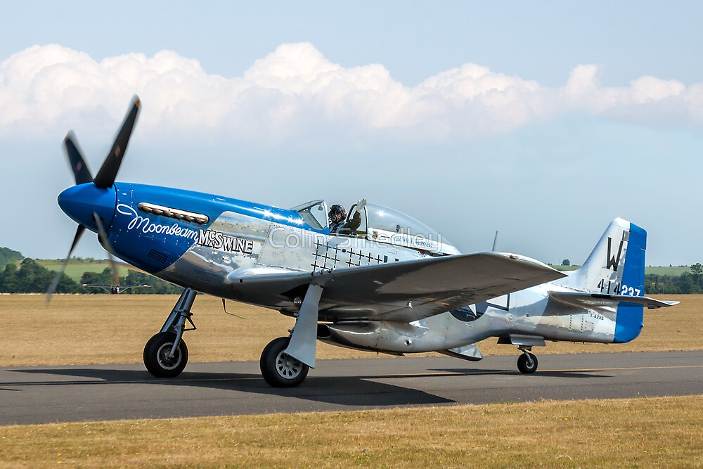 """P-51D Mustang 44-73656 F-AZXS """"Moonbeam McSwine"""" by Colin Smedley"""