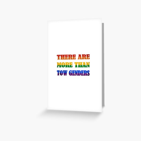 there are more than two genders #1 Greeting Card
