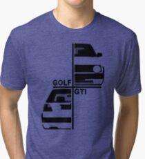 vw golf, golf gti mk2 Tri-blend T-Shirt