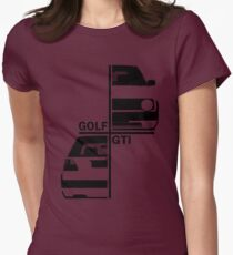 vw golf, golf gti mk2 Womens Fitted T-Shirt