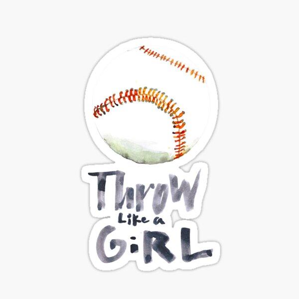 Throw Like a Girl Sticker