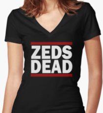ZEDS DEAD BABY Women's Fitted V-Neck T-Shirt