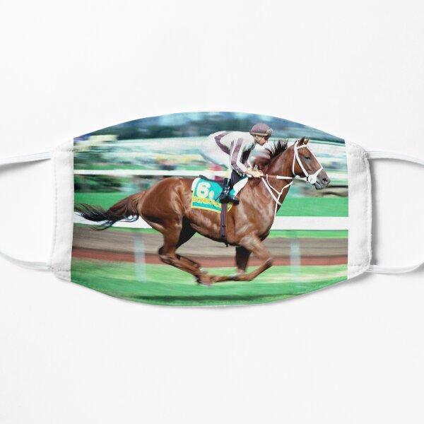 Horse racing action 9 Flat Mask