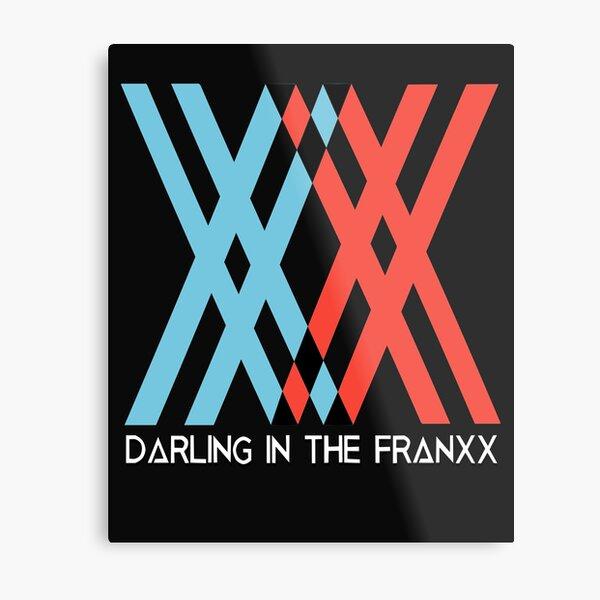 Romantic anime Darling in the Franxx wallpaper, poster design Metal Print