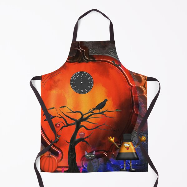 Midnight Halloween Pumpkin Party  Apron