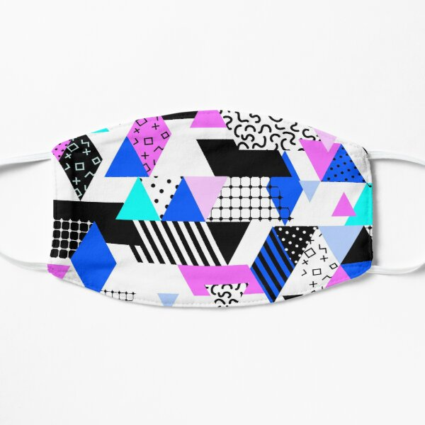 1980s Colorful Triangle Pattern Mask