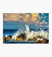 Clouds and Waves Photographic Print