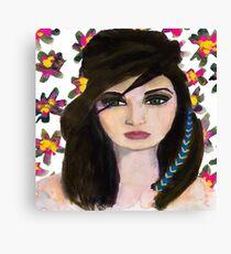 Floral Gaze Canvas Print