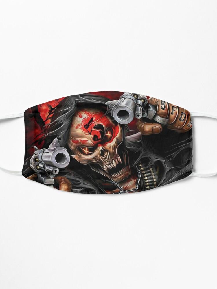 Alternate view of skull 2 design Mask
