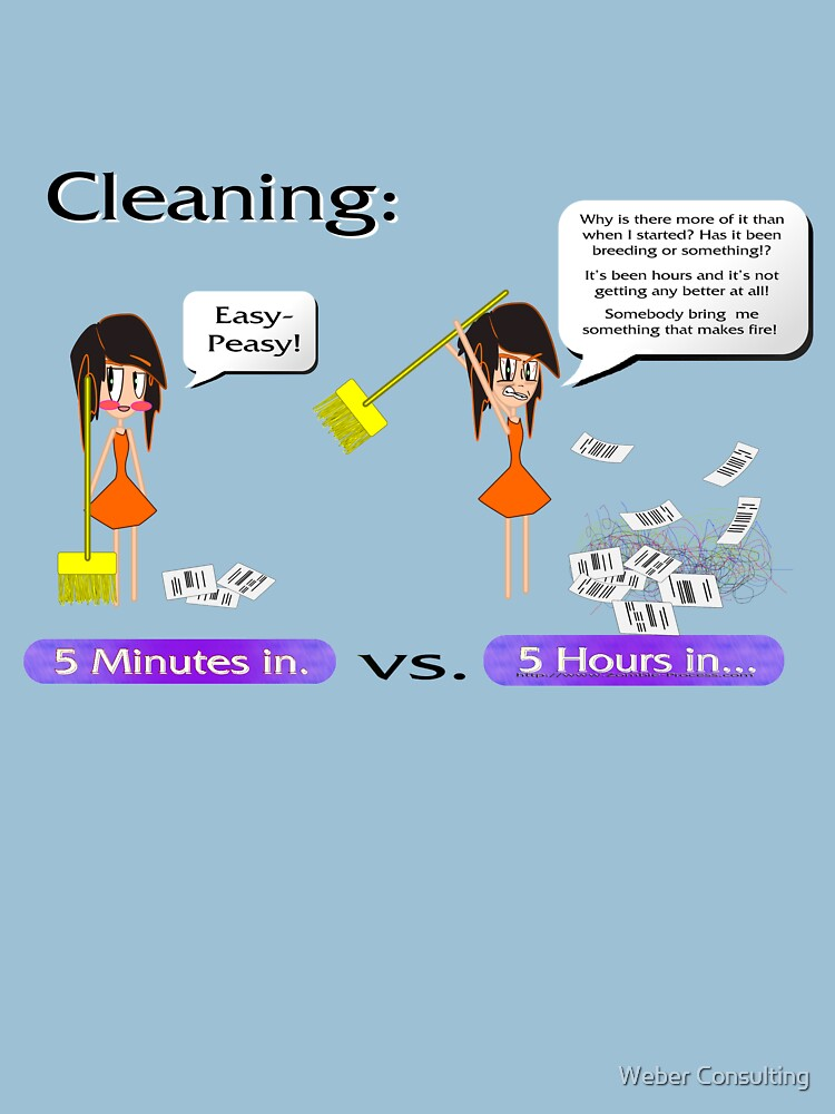 Cleaning. Never a good idea by HalfNote5